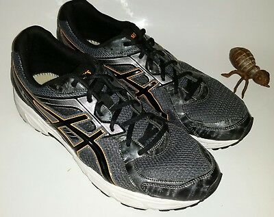 d108b1d22bd6 ASICS Gel Contend 2 Running Shoes Men s 13 Black Gray Light Trainers Gym EUC