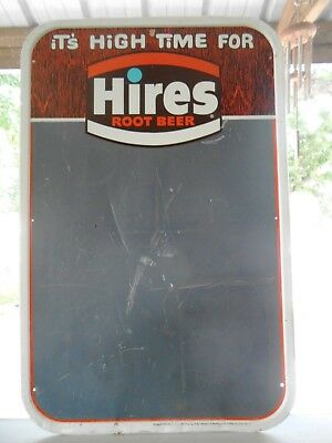 Vintage It's High Time For Hires ROOT BEER Chalkboard Sign