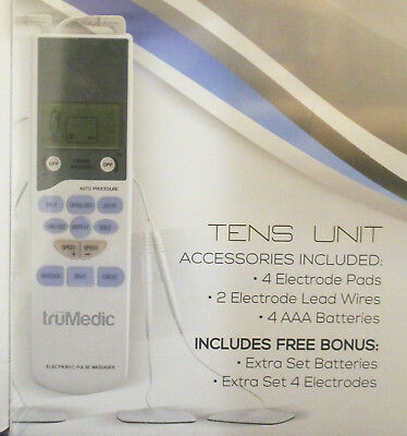 truMedic Model PL-009 TENS Unit Electronic Pulse Massager Factory Sealed New