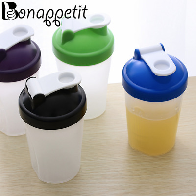 400ml Smart Shake Water Protein Blender Shaker Mixer Cup Drink Whisk Bottle