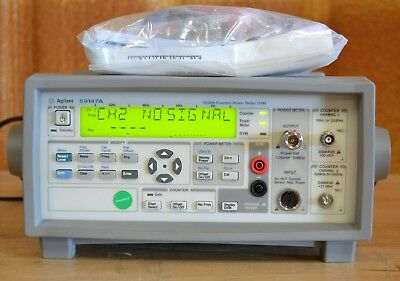 Agilent 53147A Microwave Frequency Counter/Power Meter/DVM 20GHz GOOD opt 002