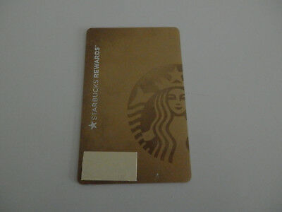 "Retired 2014 ""GOLD"" Starbucks Gift Card--No Value"