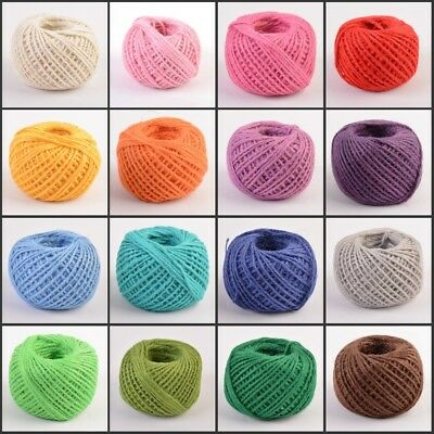 Jute Twine Rope Cord String Burlap Natural Fiber DIY Gift Craft Making New 50M