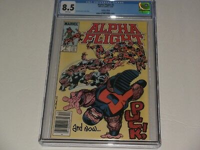 "Alpha Flight #5 CGC 8.5 NEWSSTAND ""Canadian"". Puck cover!Movie soon!SAVE 💲 HERE"