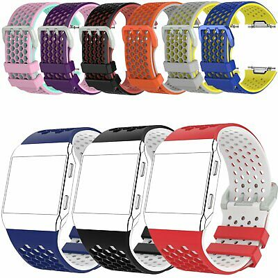 Silicone For Fitbit Ionic Wristband Classic Bracelet Strap L/S Size Rubber VS99