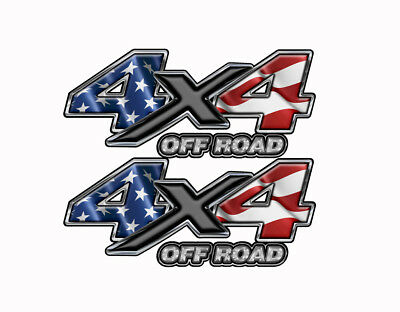 4X4 American Flag OFF ROAD DECALS Truck Bed Graphic Stickers Vinyl  Mk196OR4BX