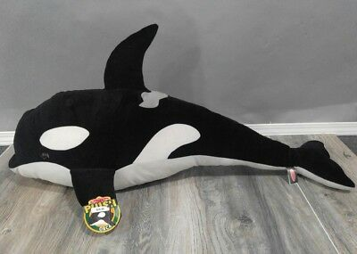 Melissa Doug Giant Orca Whale Lifelike Stuffed Animal Over 3
