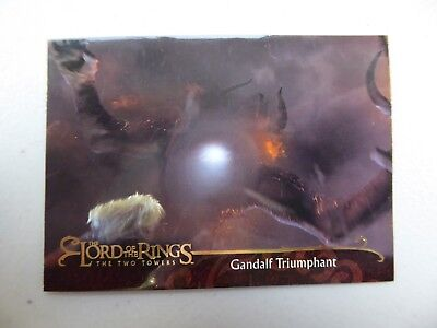 TOPPS Lord of the Rings: The Two Towers - Card #111 GANDALF TRIUMPHANT