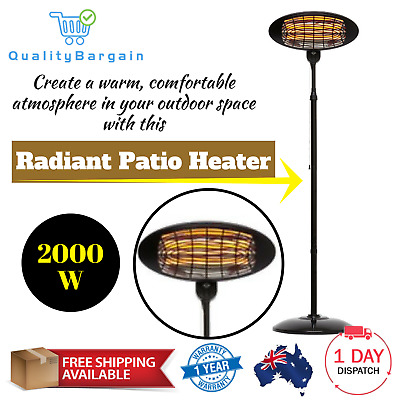 2000W Portable Electric Radiant Patio Outdoor Heater Infrared Heating Adjustable