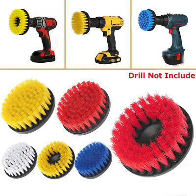 "5"" Turbo Power Scrub Bath Floor & Tile Cleaning Brush Scrubber For Drill Kit"