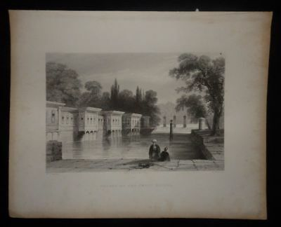 Türkei Asien Palace of the Sweet Waters Stahlstich W. Mossman um 1840
