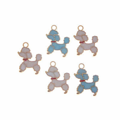 11X Enamel Gold Alloy Mixed Pet Poodle Dog Pendants Charms Accessories 53309