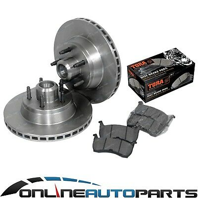 2 Front Disc Rotors + Brake Pads Ford Falcon XH EF EL 1994-99 XR6 XR8 non ABS