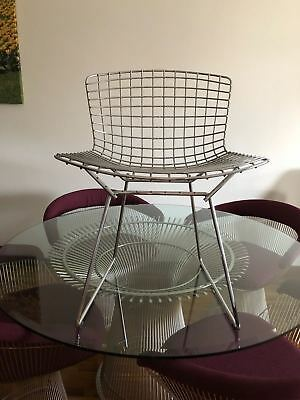 6 Sedie Knoll Harry Bertoia Side Wire Chairs Armchairs Stuhl Chromed Design