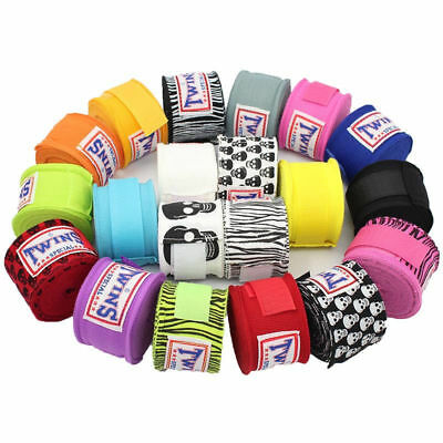 2pcs Kick Boxing Bandages Hand Wraps MMA Training Gloves Punch Bag Mitts Wrist