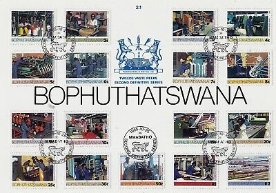 South Africa BOPHUTHATSW 1985 DEFINIT Stamps 18v FIRST DAY ISSUE CARD REF:LF85g