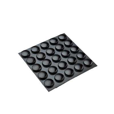 100x Round Rubber Foot Adhesive Black Sticky Feet Pads Bumpons 9.9x4.0MM RF01L