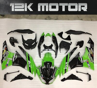 KAWASAKI NINJA ZX-6R ZX6R 636 2009 2010 2011 2012 Fairing Set Fairings Kit 1