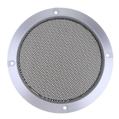 "5"" inch Speaker Cover Decorative Circle Metal Mesh Grille Protection Silver"