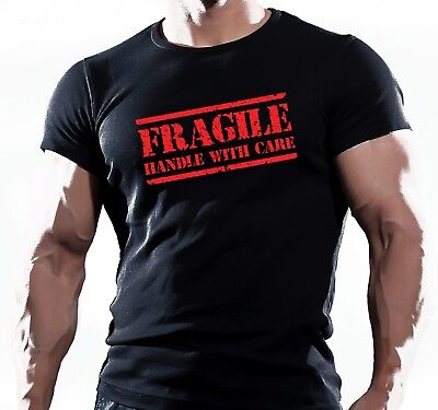Fragile Mens Mma T-Shirt Gym Bodybuilding Motivation Training Fighting Workout