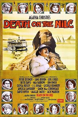 """""""Death On The Nile""""..  Agatha Christie Classic Movie Poster 2..Various Sizes"""
