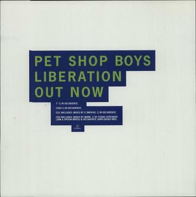 Liberation - DJtional Displays Pet Shop Boys display UK promo PROMOTIONAL