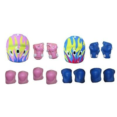 Kids Skating Protection Set Knee Elbow Wrist Head Protective Pads Safety Kit