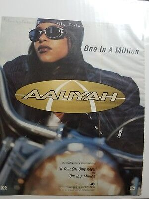 Aaliyah One In A Million 1996 Magazine Ad Clipping Essence Source XXL Vibe Ebony