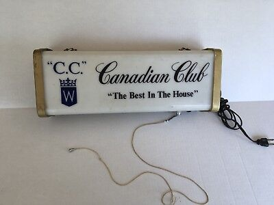 Canadian Club Sign With Light