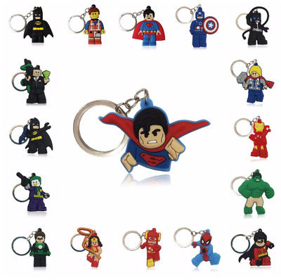 Superhero Keyring Avengers Batman Superman Spiderman Cartoon Figure Key Ring Key