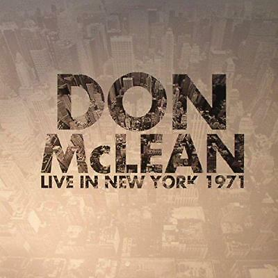 Live In New York 1971 [Vinyle], Don Mclean CD , Neuf, Free