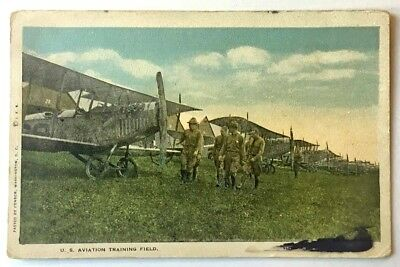 Postcard WWI AIRPLANE Aircraft Pilot Military Aviation Training Air Force ~ PC02