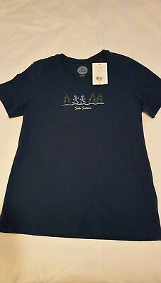 Life Is Good Women's Sz M Tee T-Shirt Top Sole Sisters Running Midnight Blue NWT