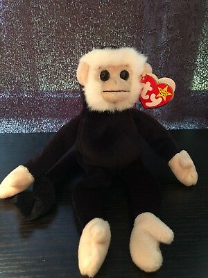 588aab3b0a5 Ty Beanie Baby ~ MOOCH the Spider Monkey~ RETIRED with several tag Errors