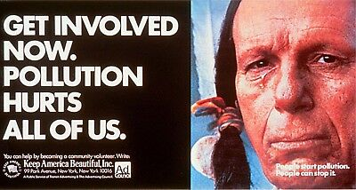 1970s Keep America Beautiful Crying Indian poster replica magnet new