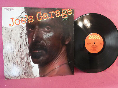 Frank Zappa, Joe's Garage Act I, Zappa Records SRZ 1 1603, 1979, Insert, Rock