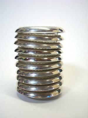 Group of 10 Vintage Sterling Silver Wine Glass Coasters 4'' Diameter