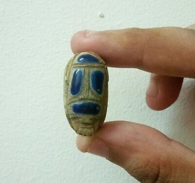 RARE ANCIENT EGYPTIAN ANTIQUE SCARAB Stone Old King doom BC