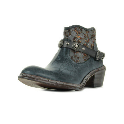 a175a59820f508 BOTTINES BUNKER FEMME Nely Jungle taille Gris Grise Cuir A boucles ...