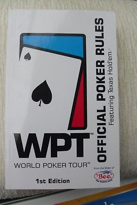 WPT Word Poker Tour Book
