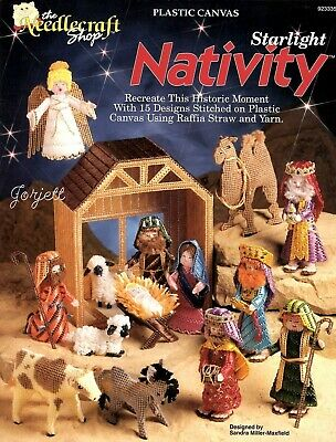 Starlight Nativity ~ Manger Scene ~ 14 Pieces & Stable plastic canvas patterns