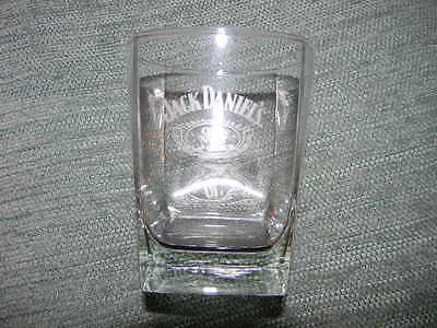 Jack Daniel's glass - Old No. 7 Brand- glass square bottom -New-etched logo