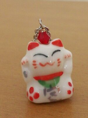Lucky Chinese New Year Porcelain Hand Painted & Glazed Charm