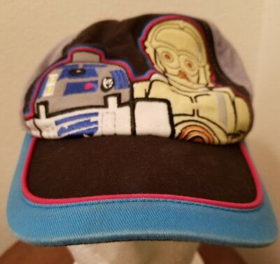 Youth Lego Star Wars R2-D2 and C-3PO Hat EUC