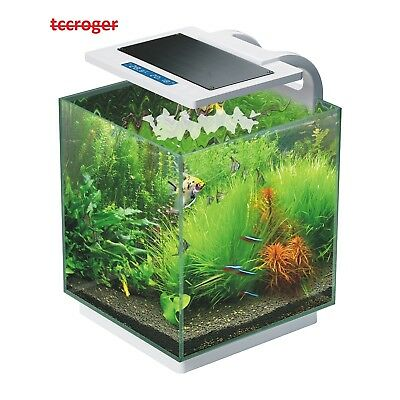 Aquarium Fish Tank Nano LED Light Complete Set Filter Pump 16L