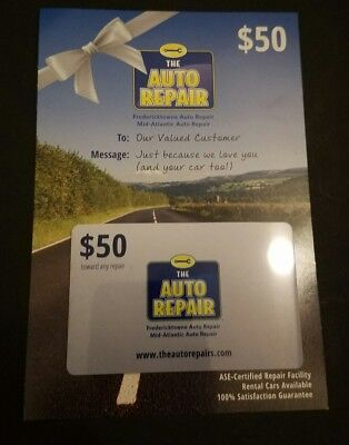 $50 The Auto Repair Gift Card