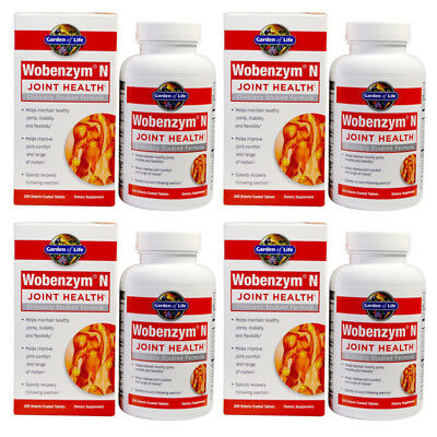 GARDEN OF LIFE Wobenzym N Joint health 200 Tablets Healthy