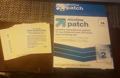 Nicotine 14mg Step 2 Stop Smoking Aid 13 Patches up & up *compared to nicoderm