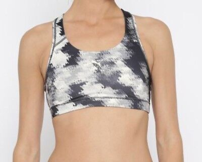 PUMA White & Black Printed Forever Graphic Sports Bra Size XS