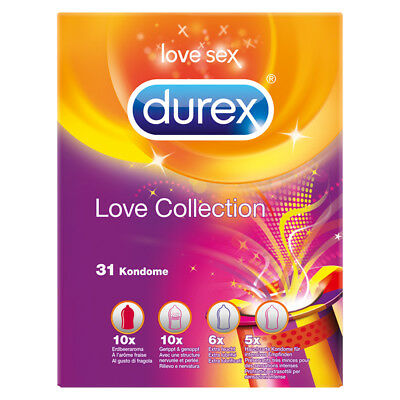 Durex Love Collection 31er transparent Kondome Verhütung Verhütungsmittel